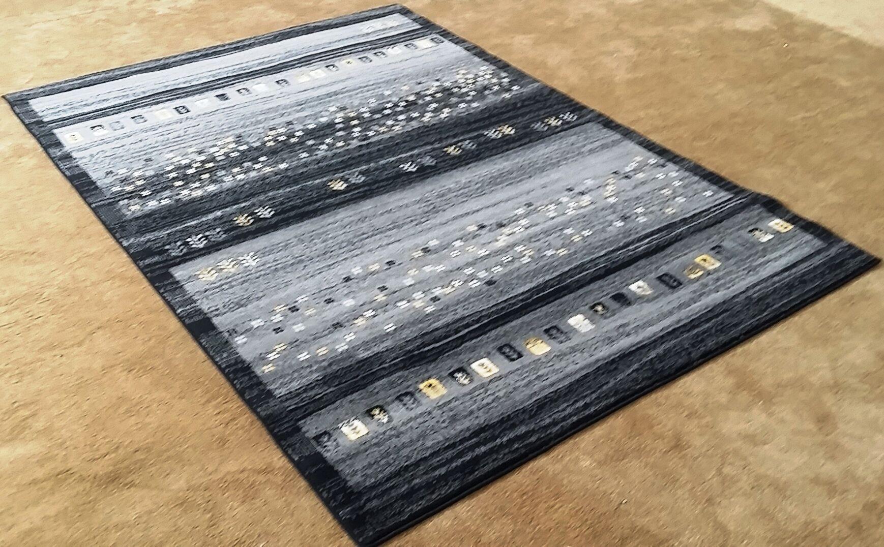 Latisha Black Area Rug Rug Size: 10' x 13'
