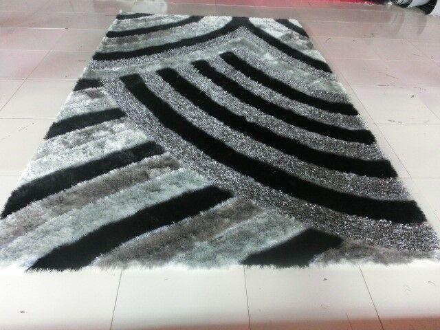 Damann Black/Gray Area Rug Rug Size: Runner 2' x 7'2