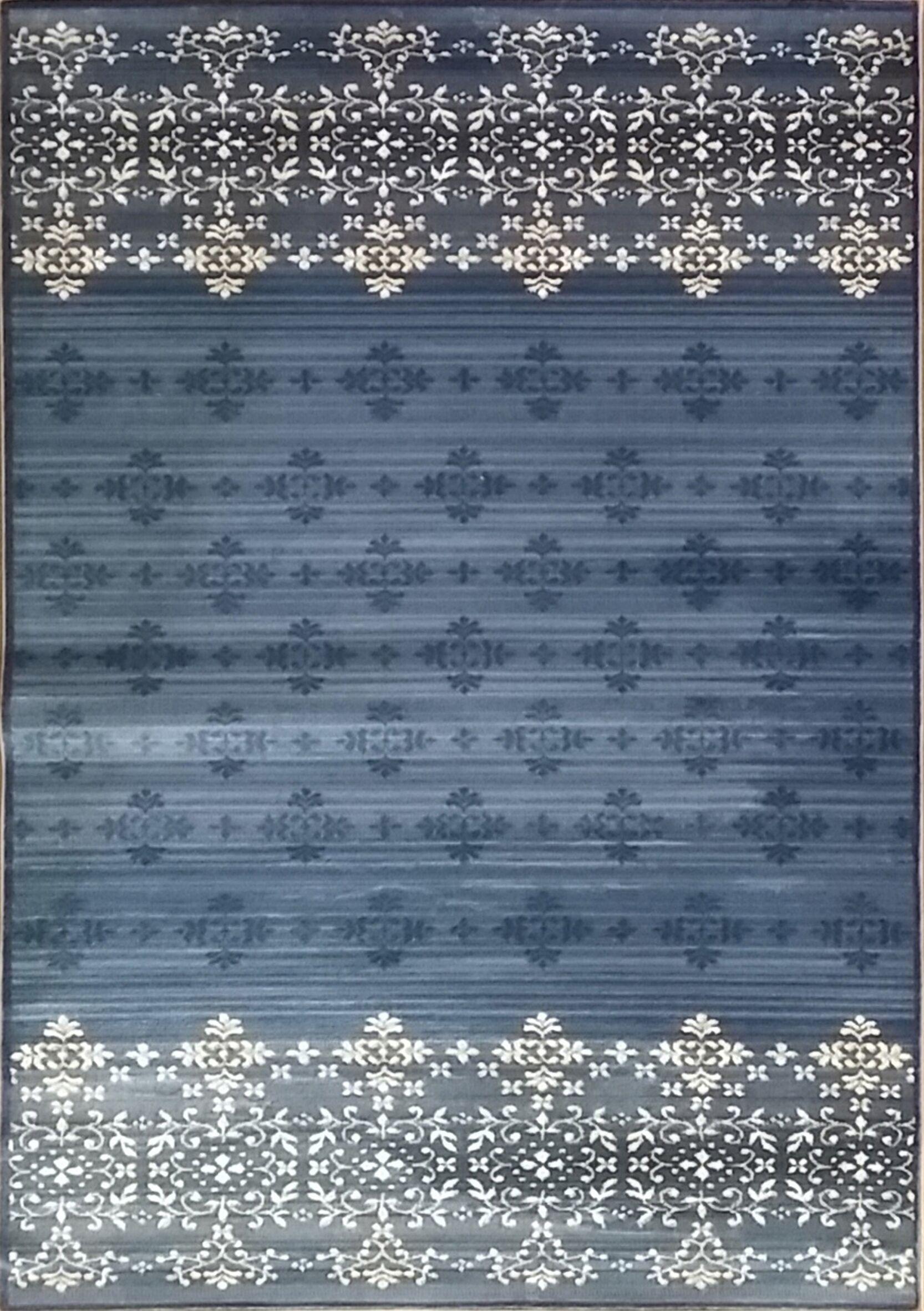Cahlil Modern Gray Area Rug Rug Size: 7'11
