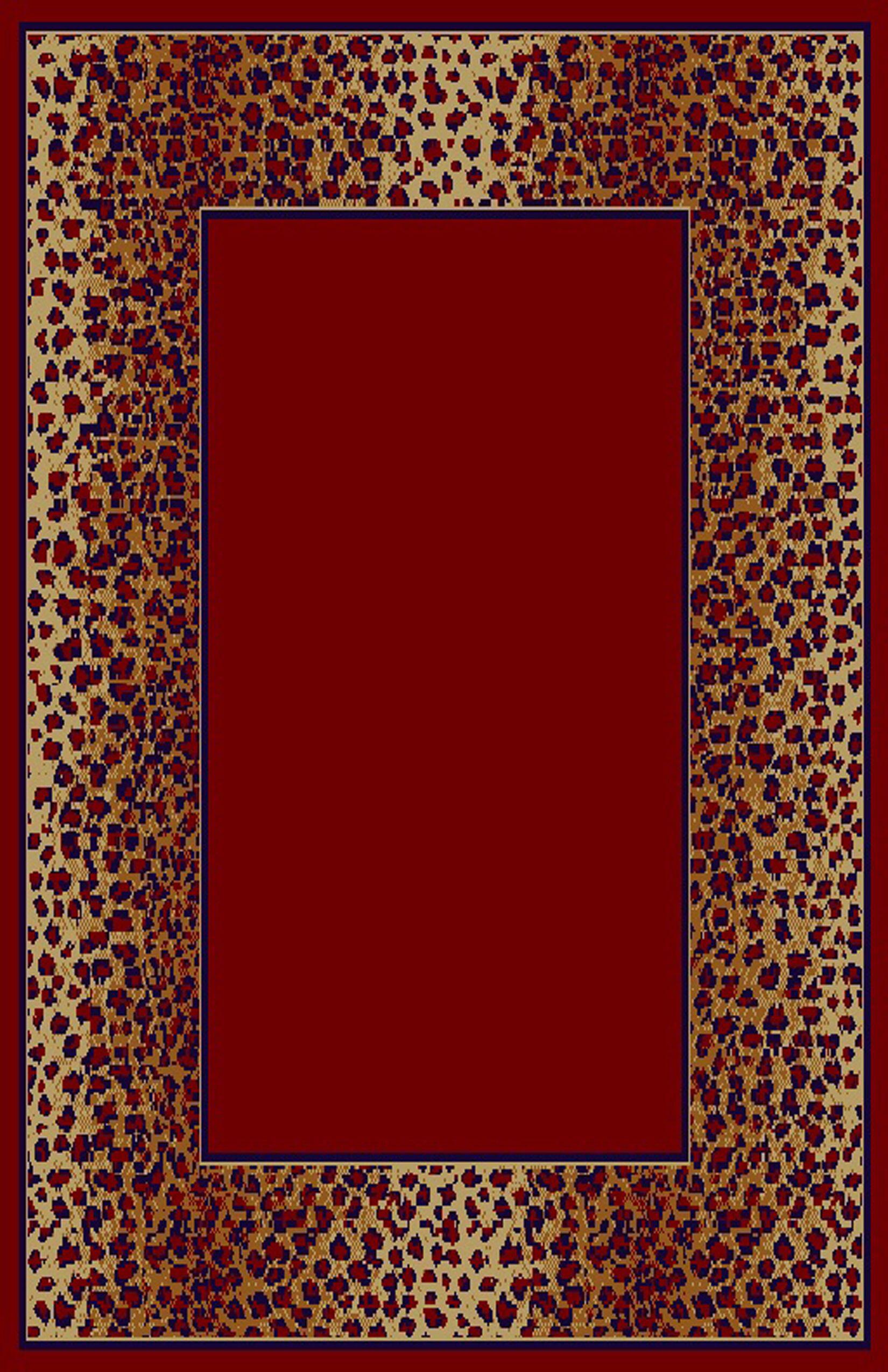 Delia Red/Brown Area Rug Rug Size: 7'11