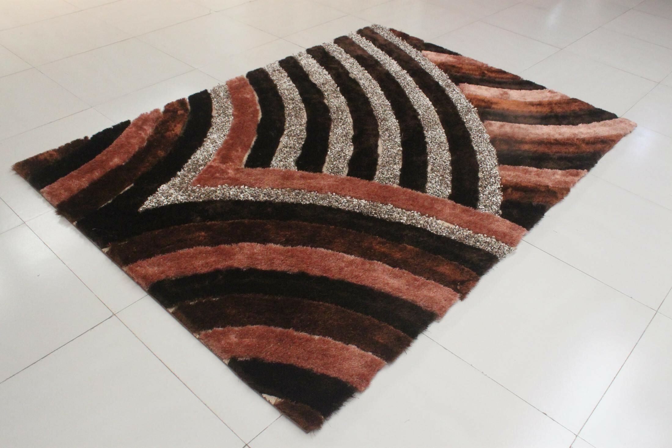 Karuna Brown Area Rug Rug Size: 2' x 3'