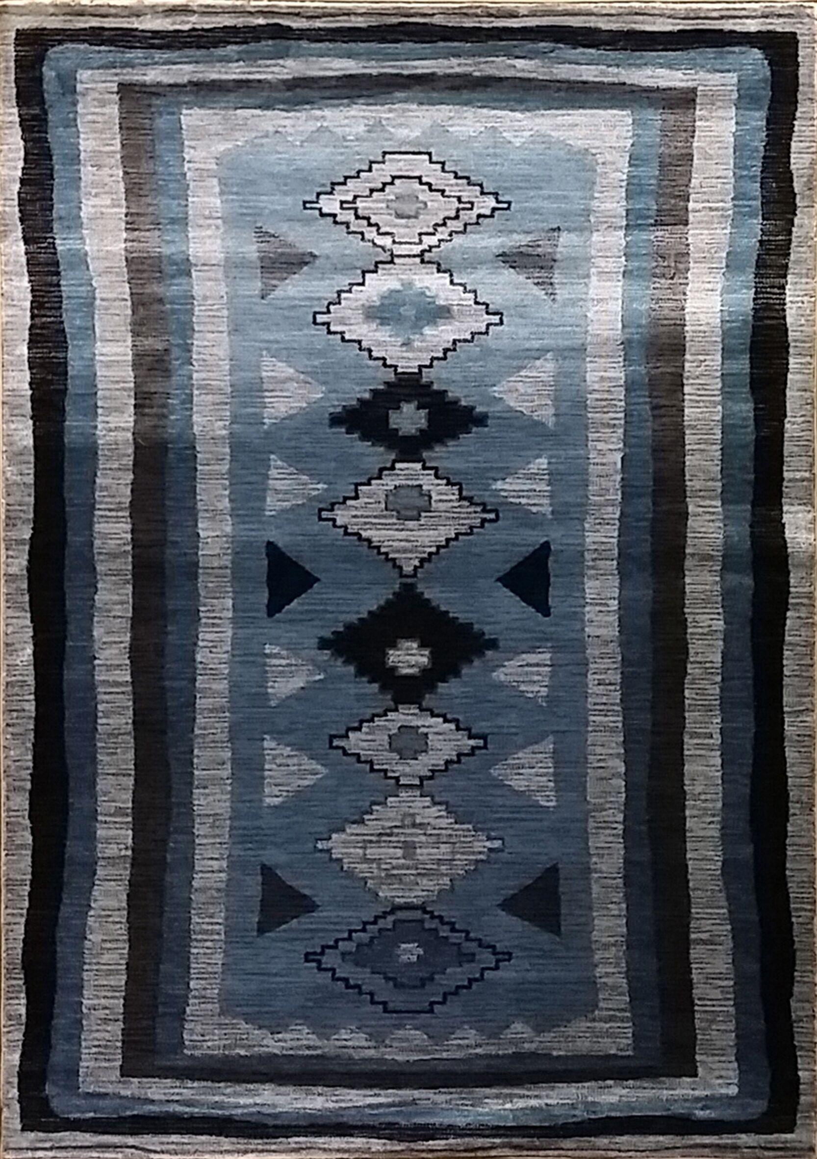 Shuntae Dark Blue Area Rug Rug Size: 7'11