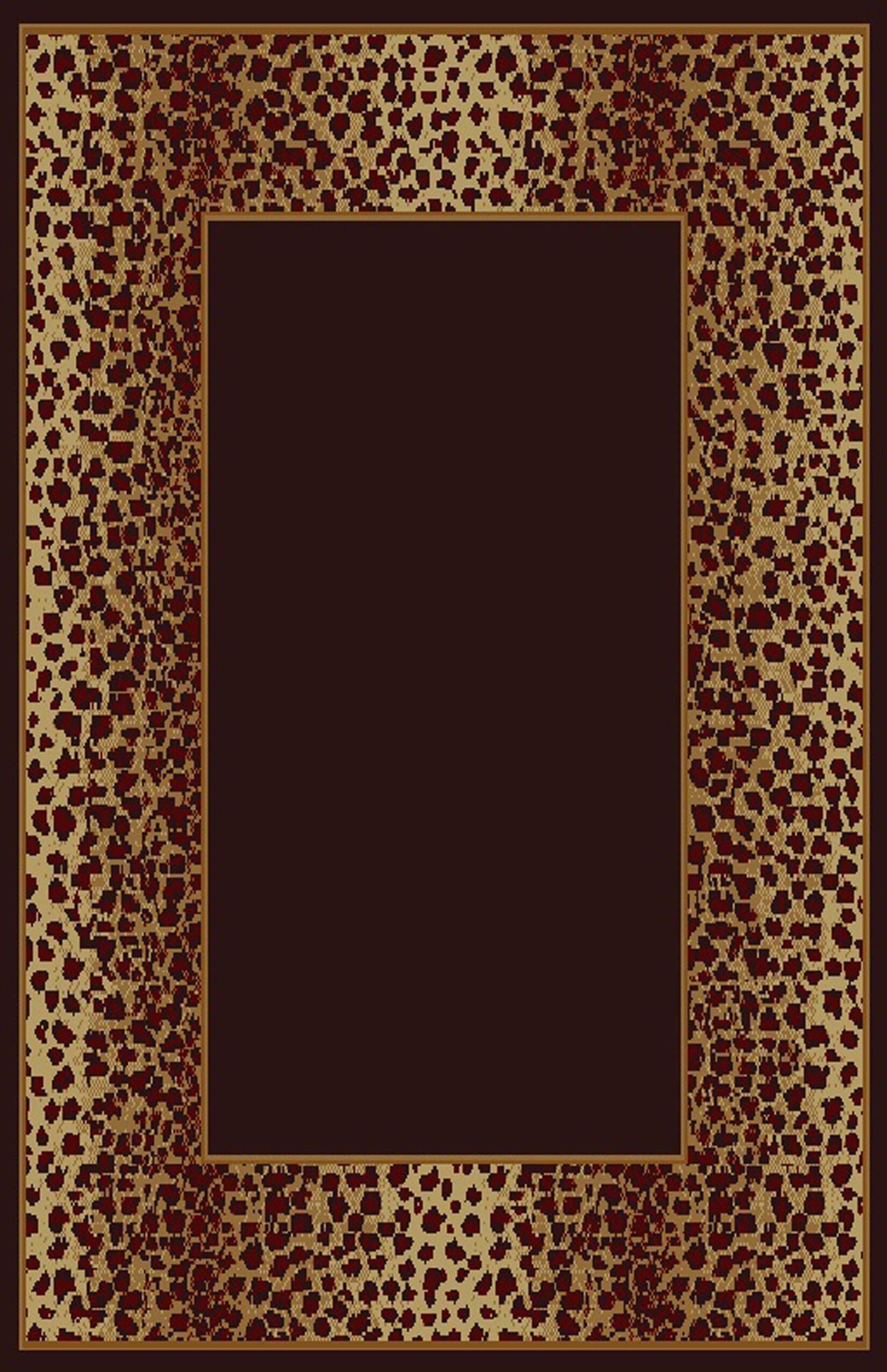 Debora Black/Brown Area Rug Rug Size: 5'3