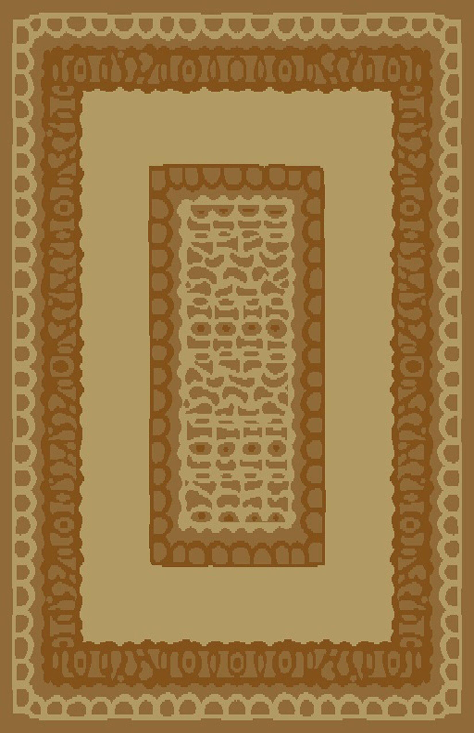 Carolyn Ivory/Brown Area Rug Rug Size: 5'3