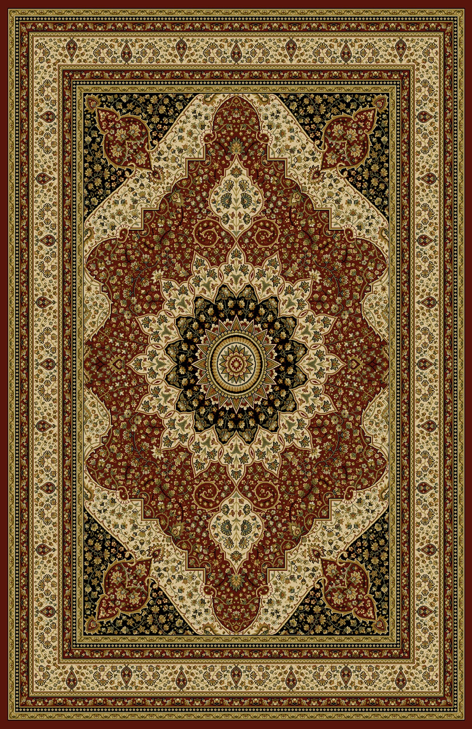 Sella Red/Green Area Rug Rug Size: 5'3