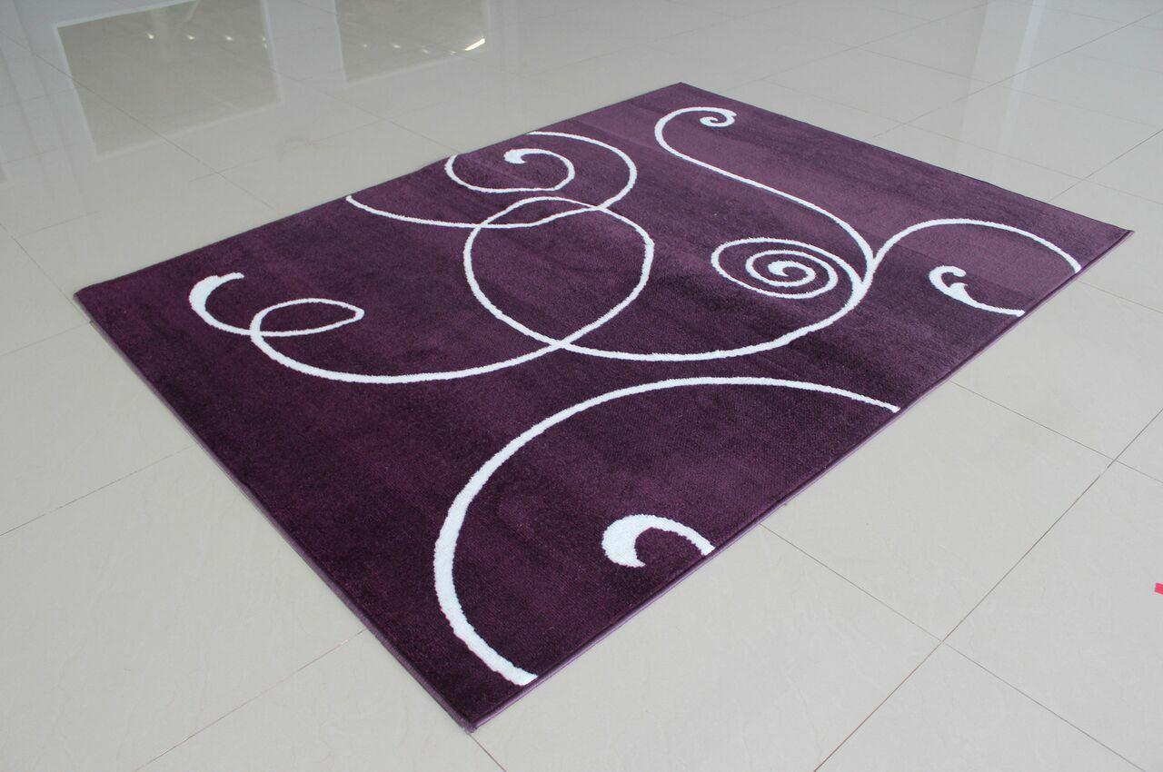 Markel Purple Area Rug Rug Size: 7'11