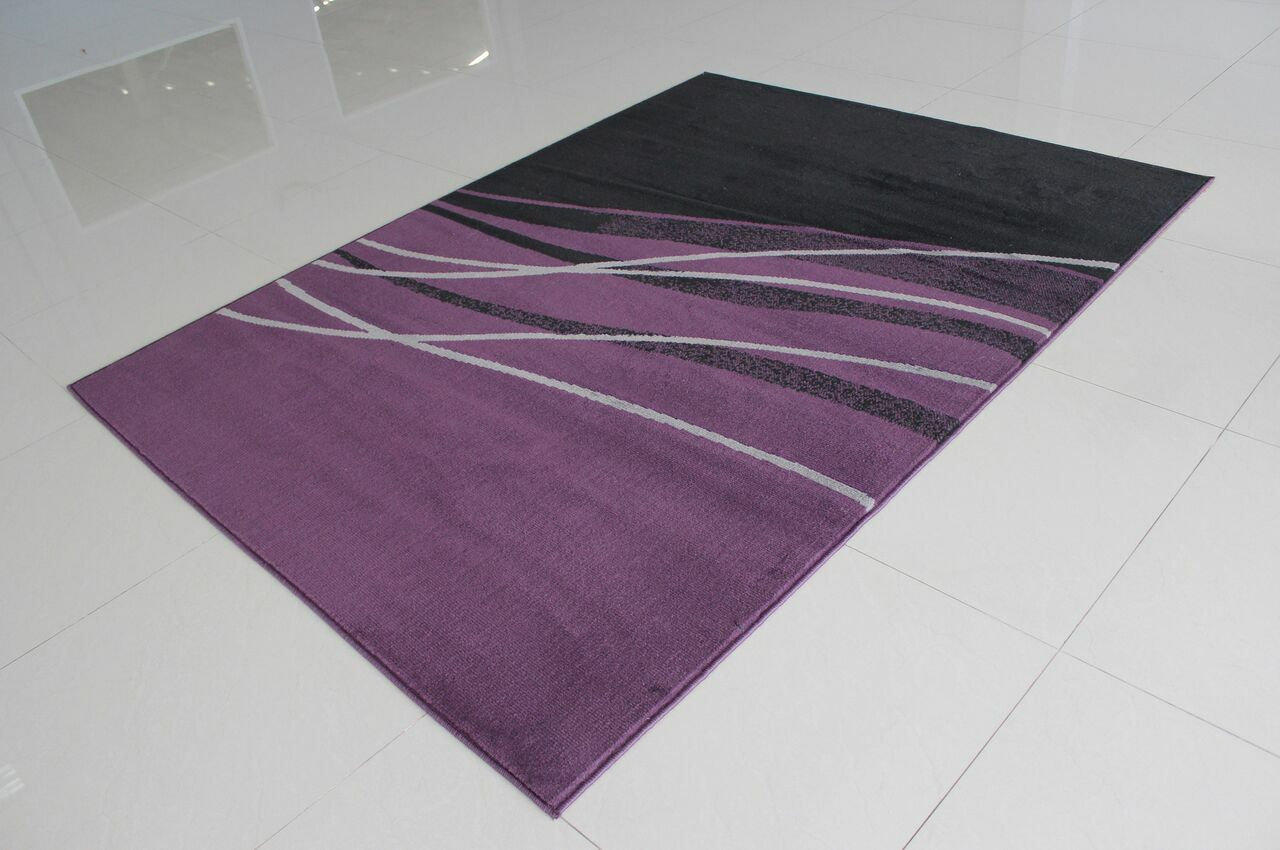 Wali Rectangle Black/Purple Area Rug Rug Size: 5'3