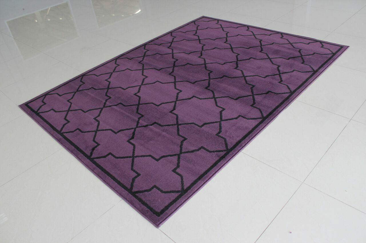 Rattew Purple Area Rug Rug Size: 5'3