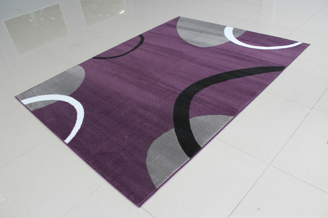 Gene Rectangle Purple Area Rug Rug Size: 5'3