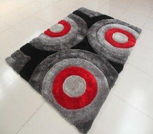 Kishor Circle Black/Gray Area Rug Rug Size: 5'3