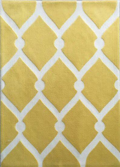 Damore Yellow Area Rug Rug Size: 5'3