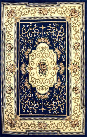 Alfredson Dark Blue Area Rug Rug Size: Rectangle 5'3