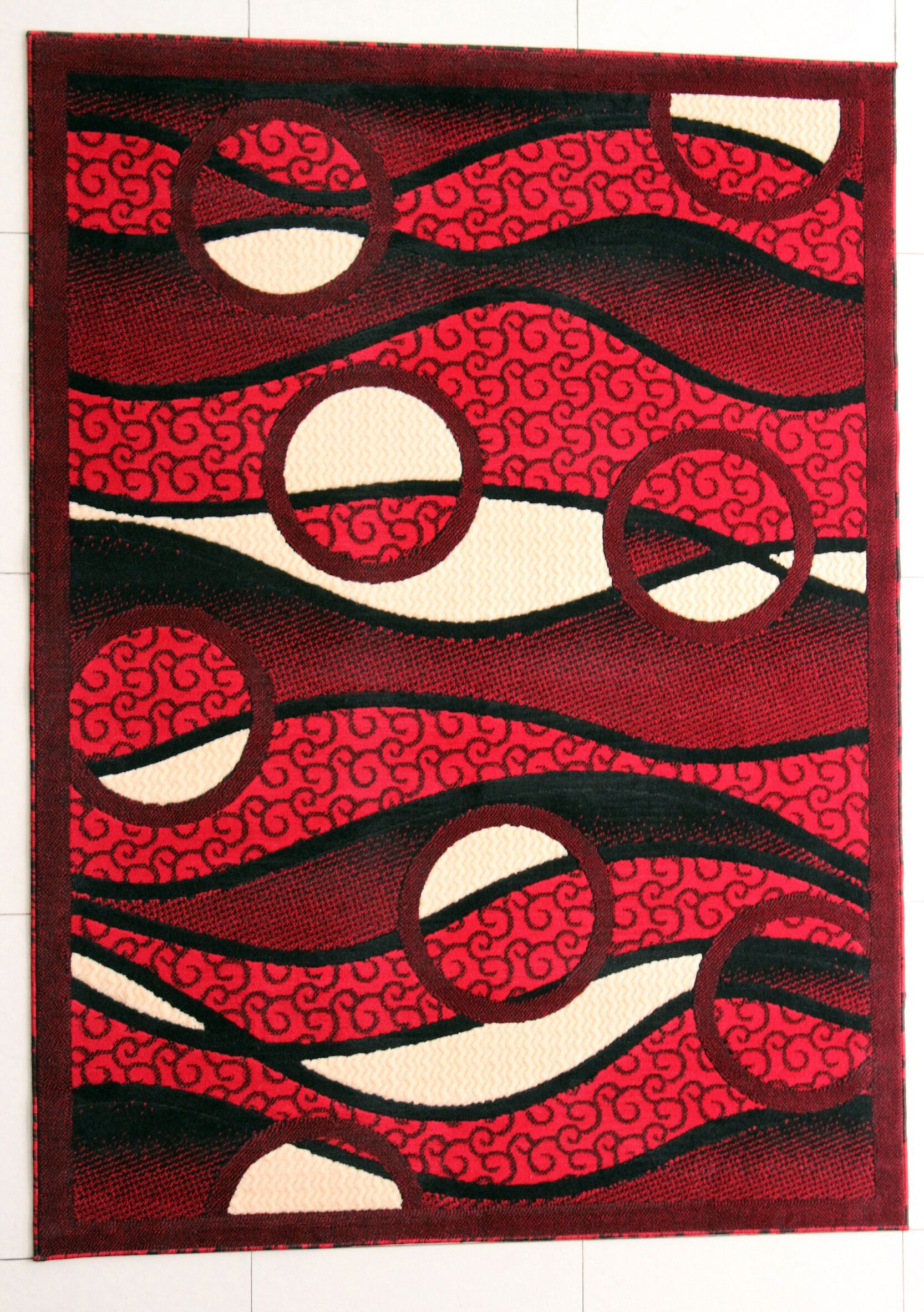 Fernando Red Area Rug Rug Size: Runner 2'7