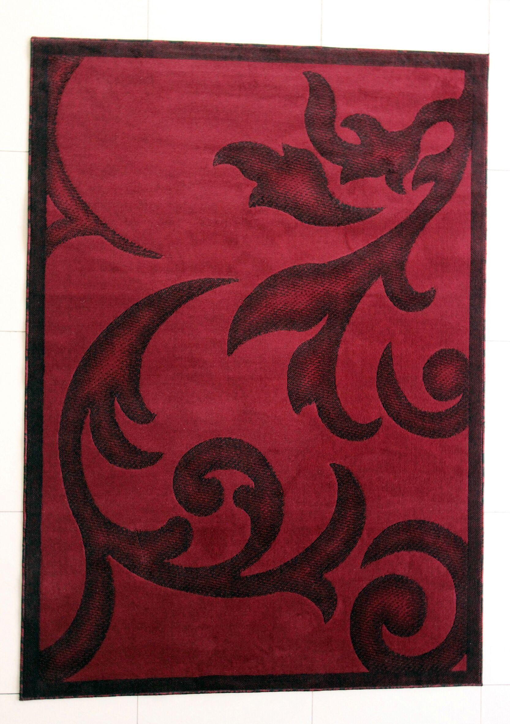 Shelby Burgundy Area Rug Rug Size: 10' x 13'