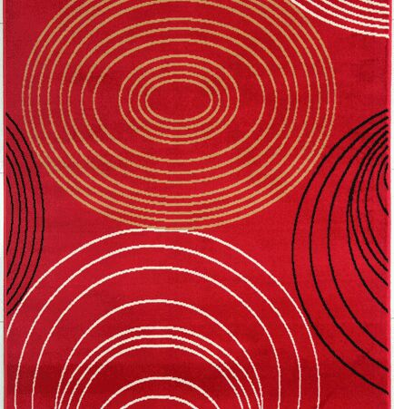 Joseluis Red Area Rug Rug Size: 5'3