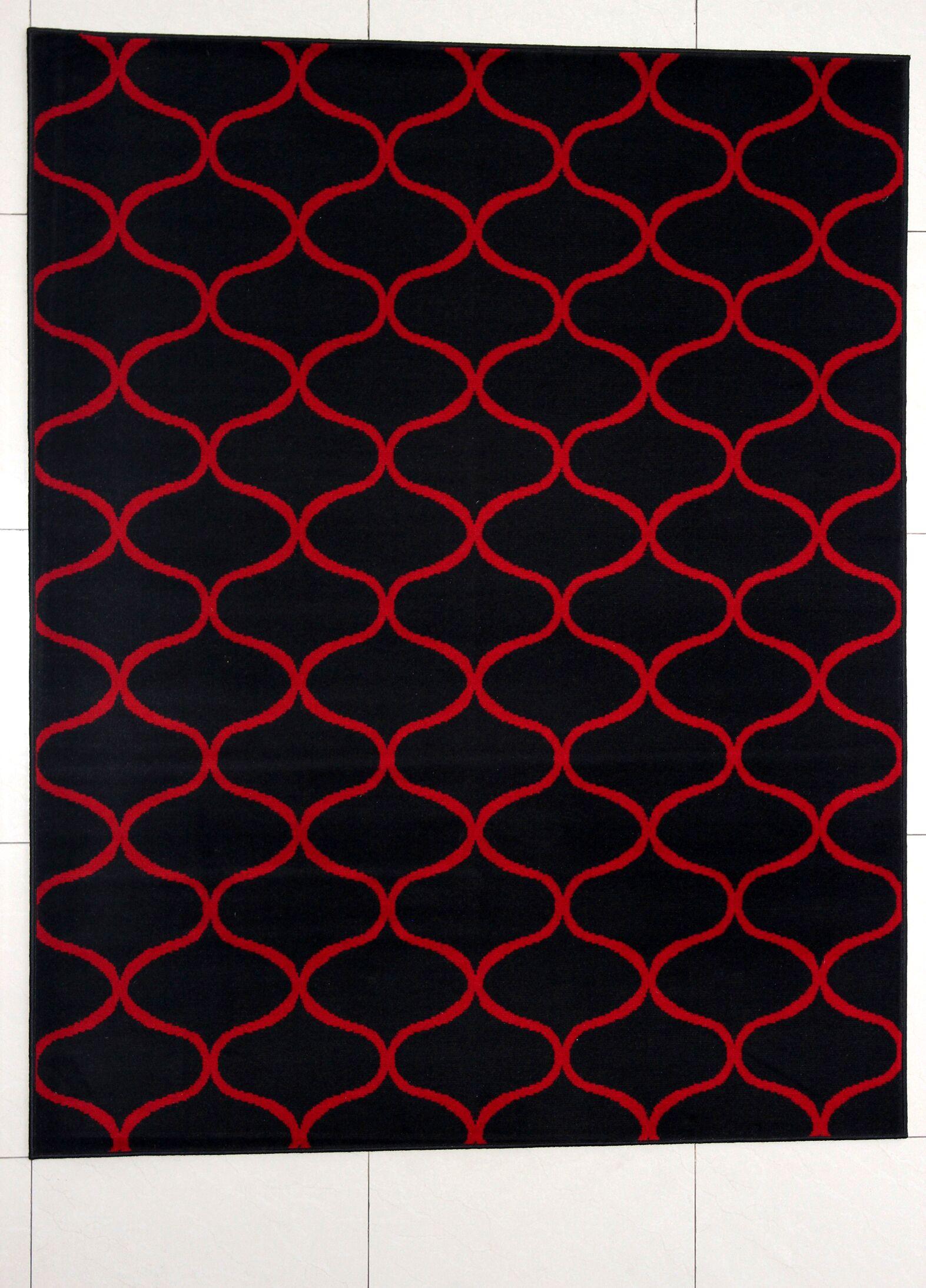 Haywood Black Area Rug Rug Size: 7'11