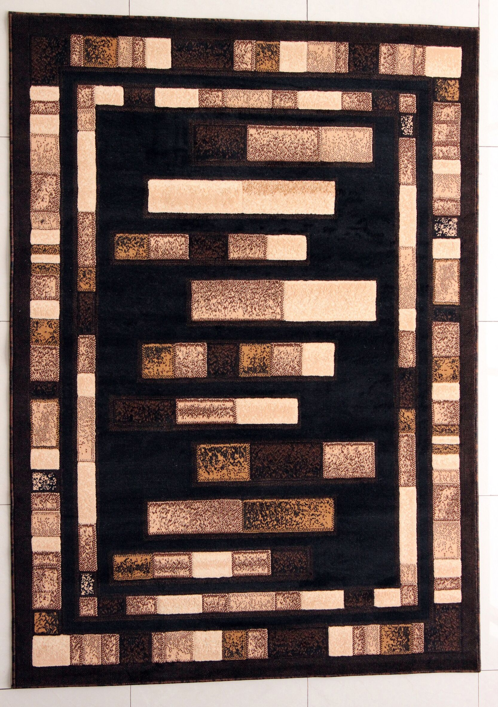 Finn Black Area Rug Rug Size: Runner 2'7