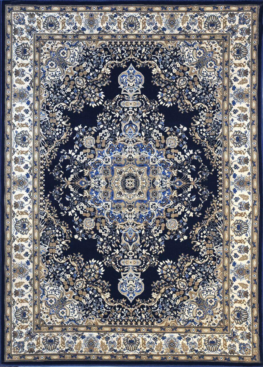Piccadilly Dark Blue Area Rug Rug Size: 10' x 13'