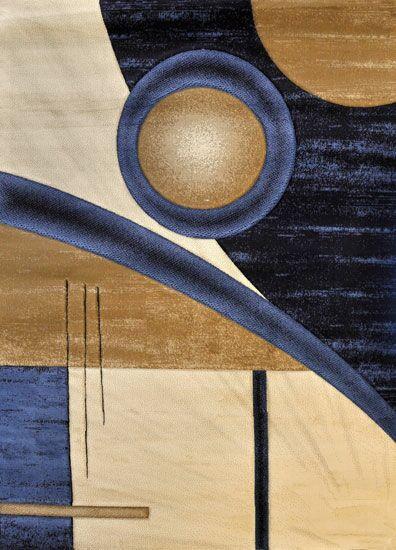 Helena Dark Blue Area Rug Rug Size: Round 8'