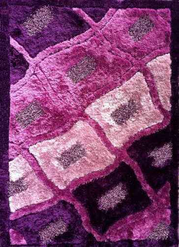 Rajat Purple Area Rug Rug Size: 5'3