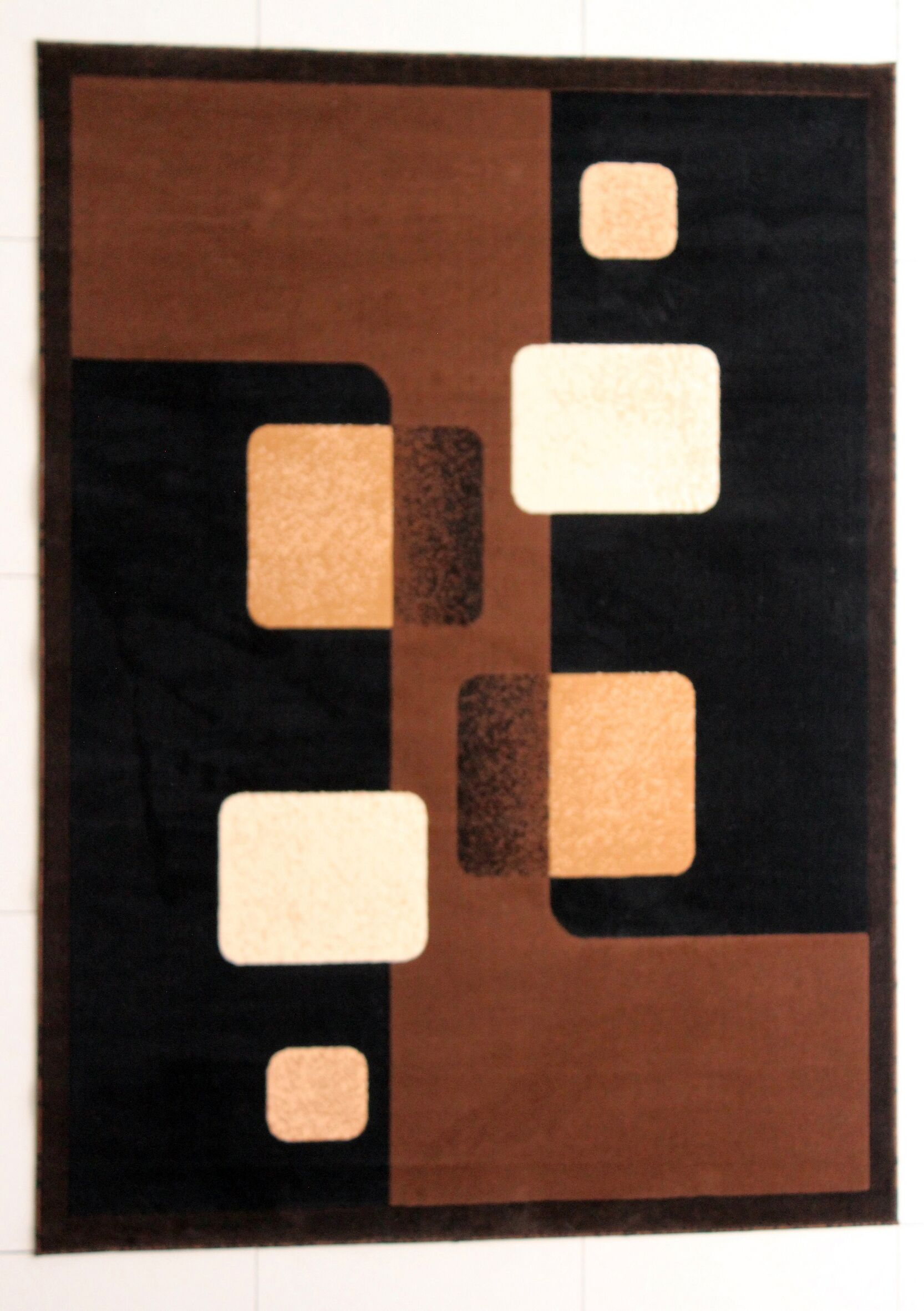 Evelyne Brown Area Rug Rug Size: 7'11