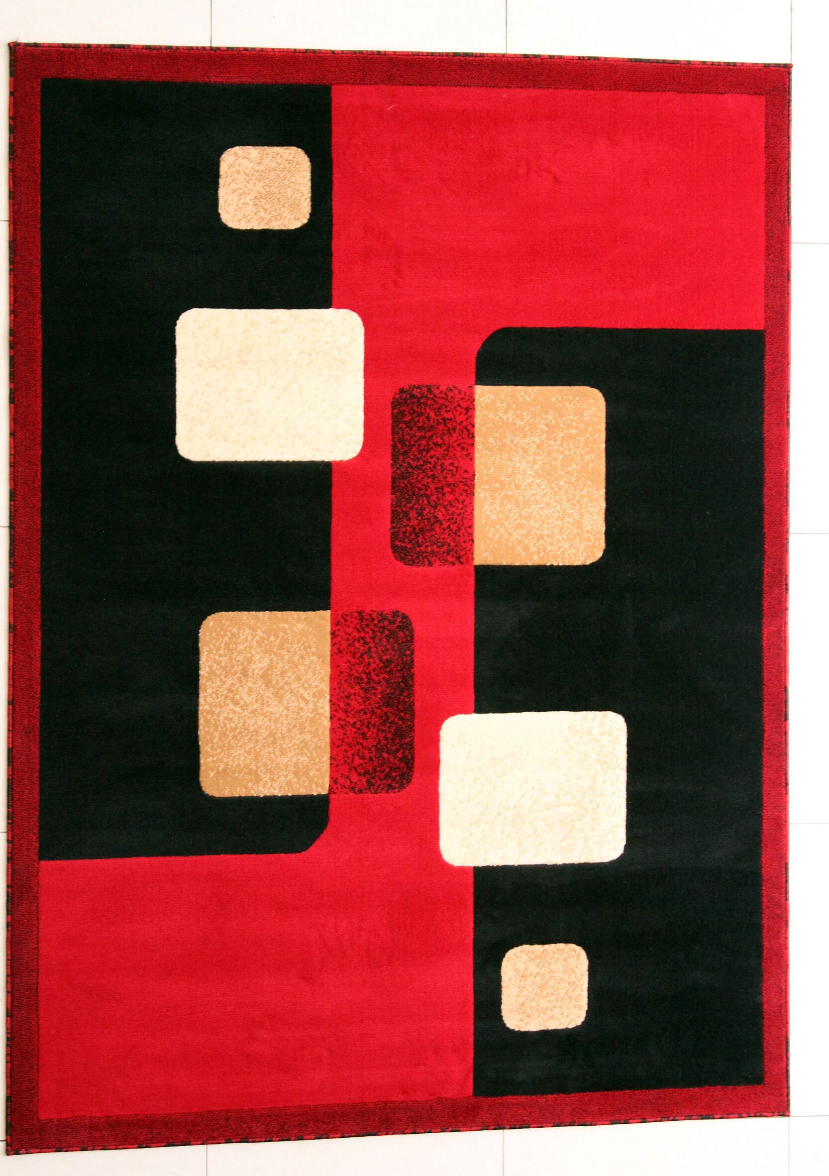 O'Loughlin Red Area Rug Rug Size: 4' x 6'