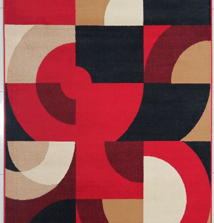 Euan Red Area Rug Rug Size: Runner 2' x 7'2