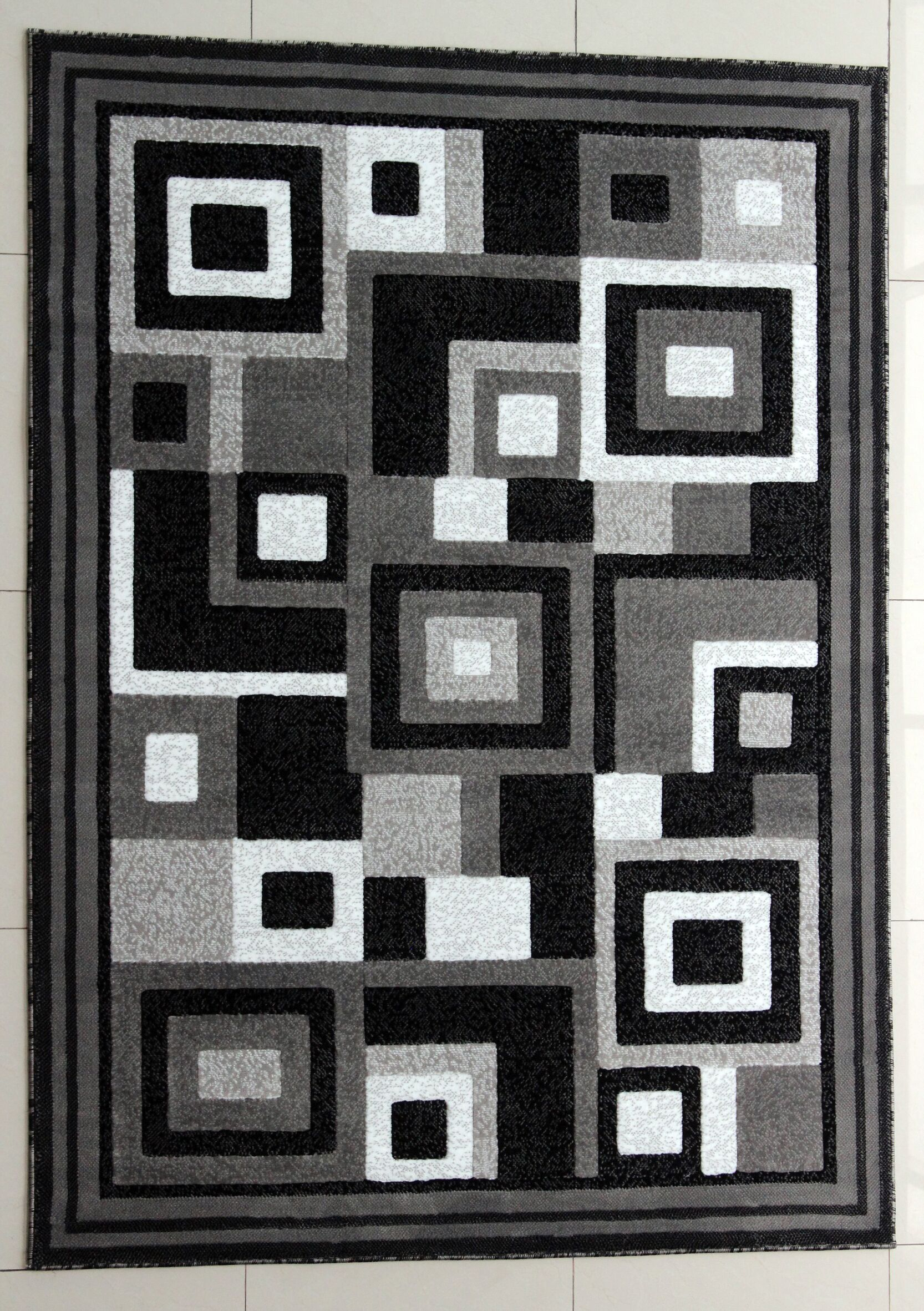 Rabehi Dark Gray Area Rug Rug Size: Runner 2'7