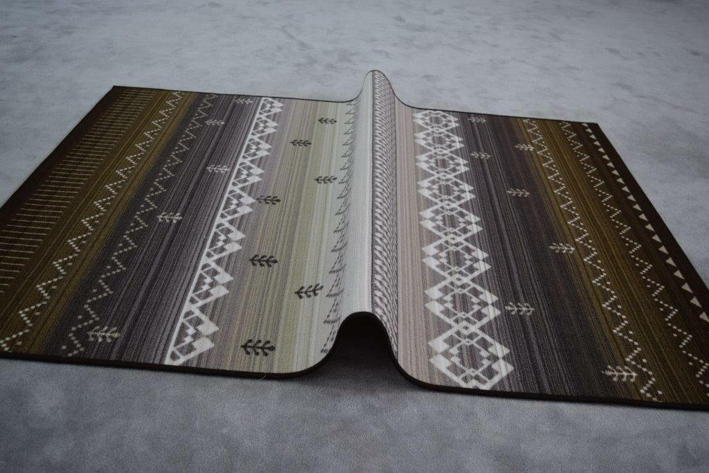 Huynh Wool Brown/Gray Area Rug Rug Size: Runner 2'7
