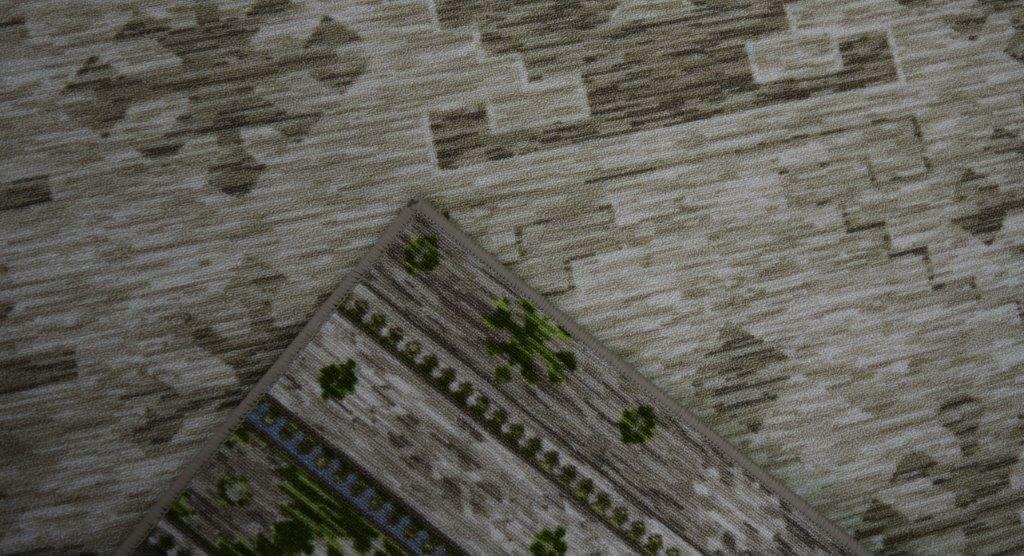 Ibarra Wool Green/Brown Area Rug Rug Size: Rectangle 4' x 6'