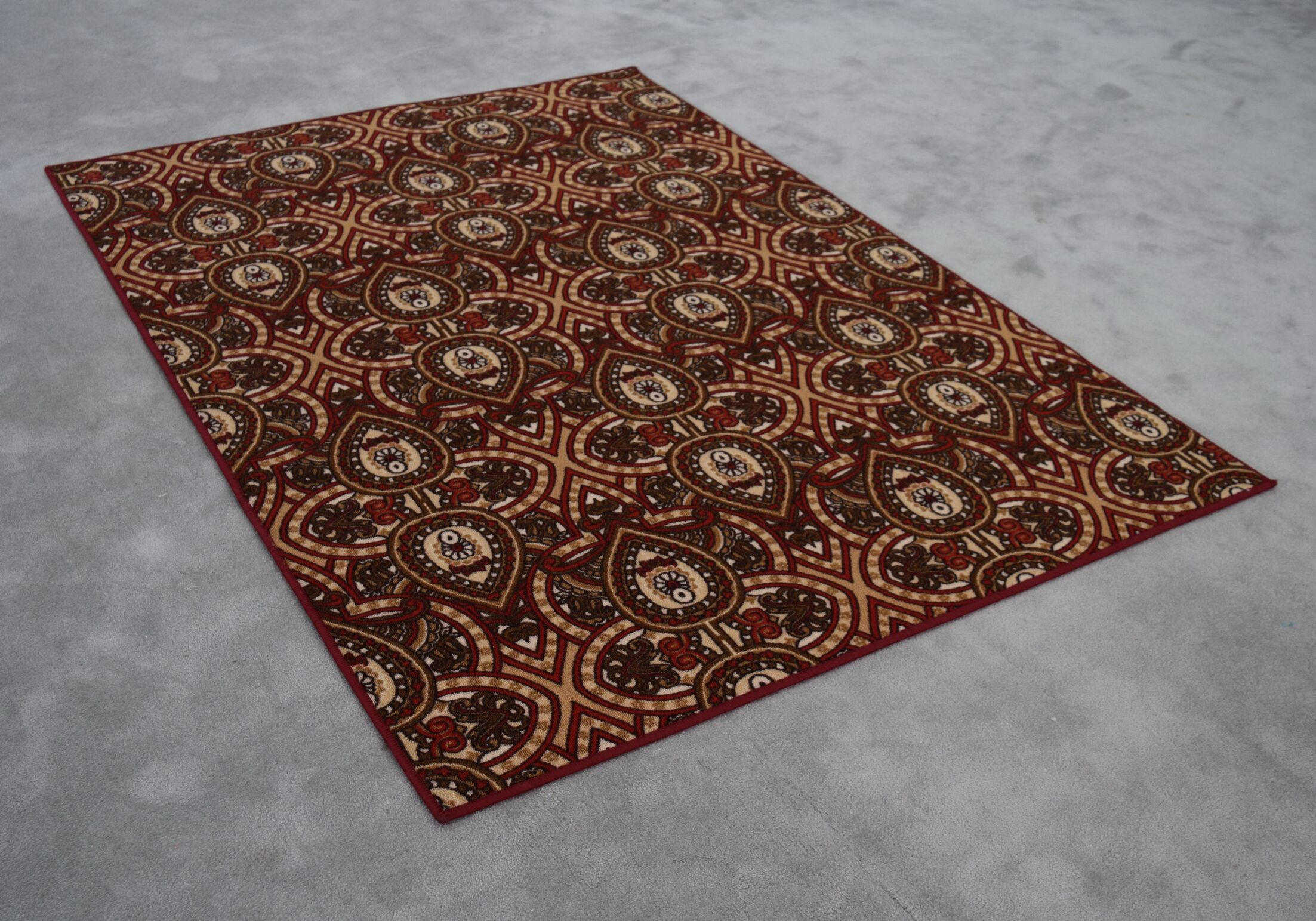 Rockdale Wool Red/Brown Area Rug Rug Size: Rectangle 4' x 6'
