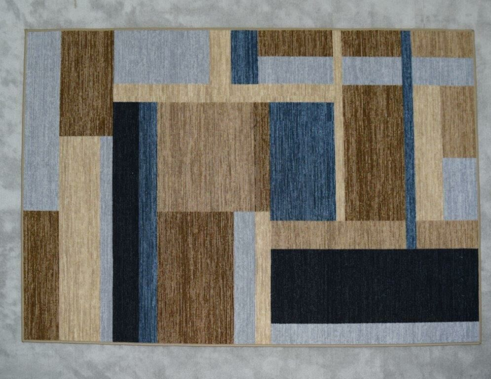 Balke Wool Gray/Brown/Blue Area Rug Rug Size: Rectangle 3' x 5'