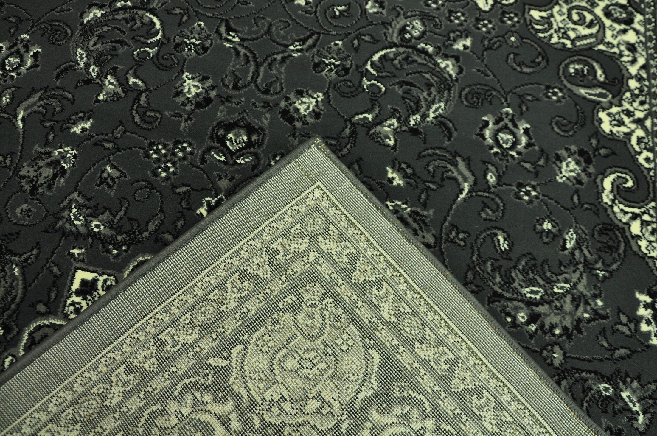 Zoelle Traditional Gray/Black Oriental Area Rug Rug Size: Runner 2'7