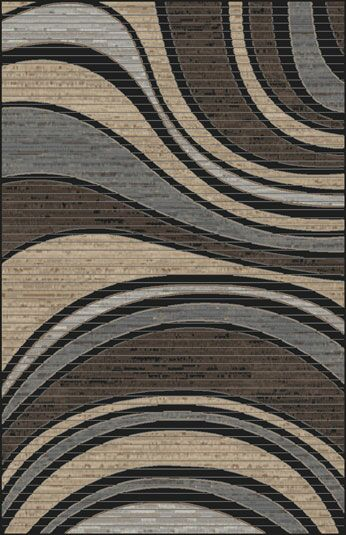 Mcgehee Black/Blue Area Rug Rug Size: Rectangle 5'3