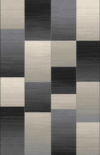 Doully Black Area Rug Rug Size: Rectangle 5'3