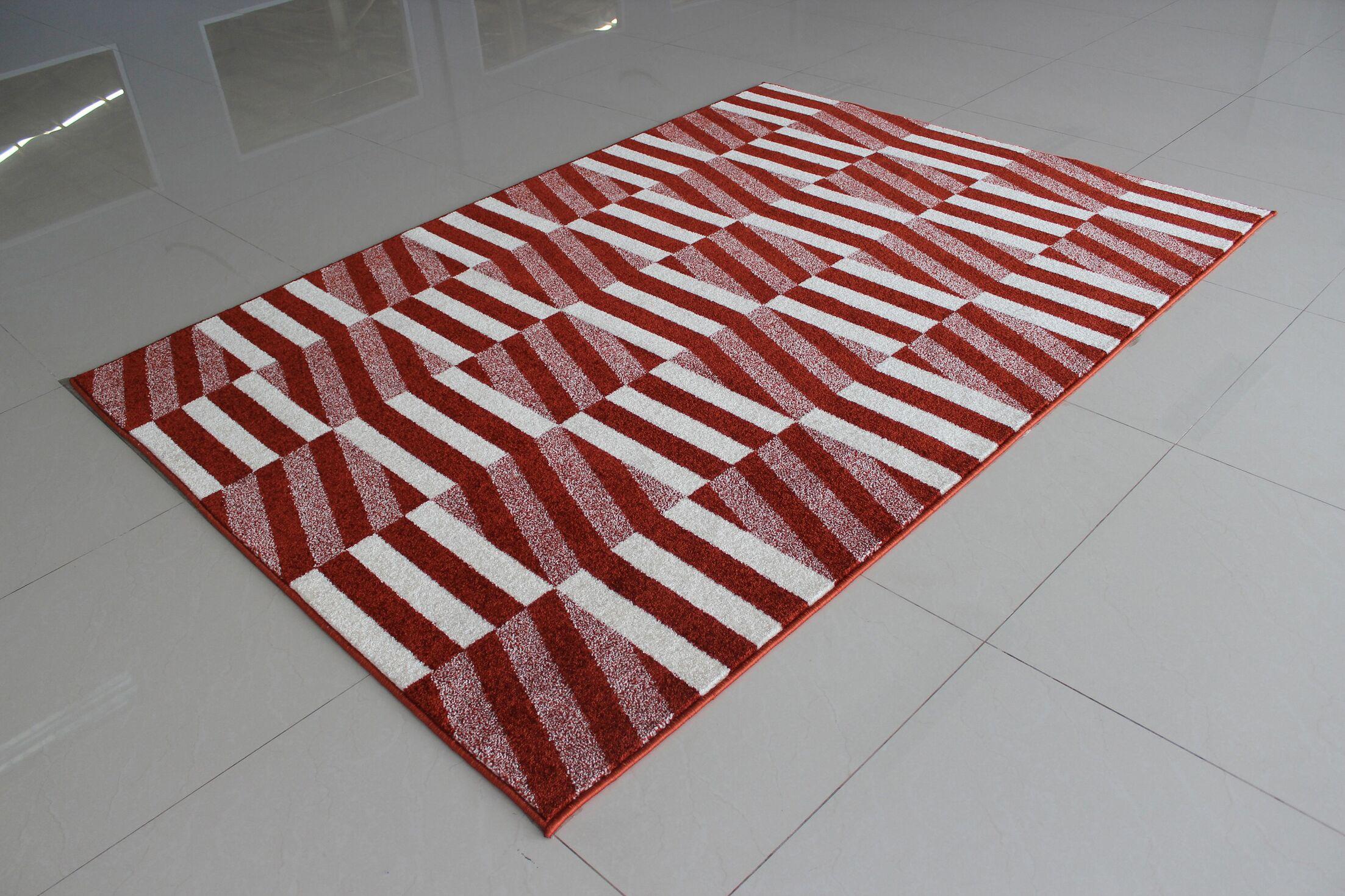 Mccollough Terracotta Area Rug Rug Size: 4' x 6'