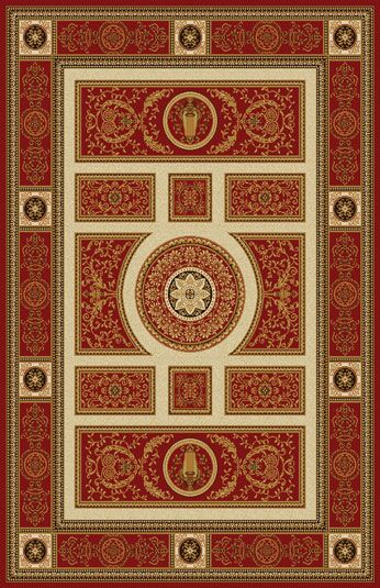 Germencik Modern Red Area Rug Rug Size: 7'11