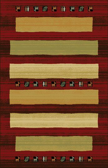 Germencik Red/Brown Area Rug Rug Size: 7'11