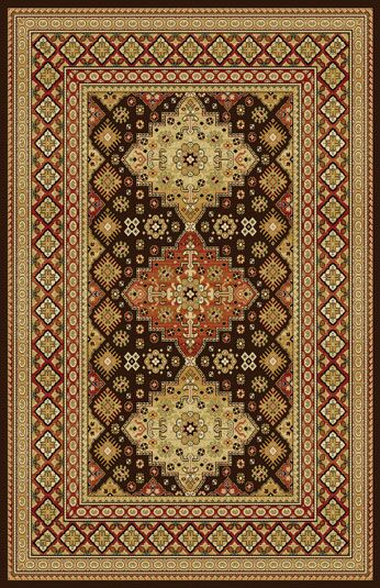 Gillmore Dark Brown Area Rug Rug Size: 7'11