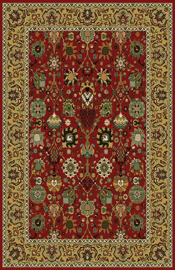 Germencik Stain Resistant Red Area Rug Rug Size: 7'11