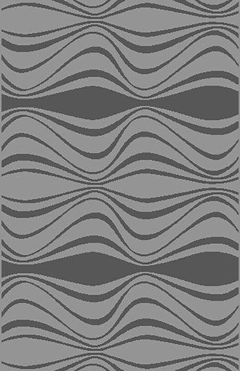 Mcginn Contemporary Gray Area Rug Rug Size: 5'3