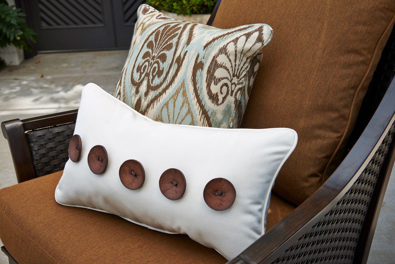 Five Button Lumbar Pillow Color: Canvas Canvas