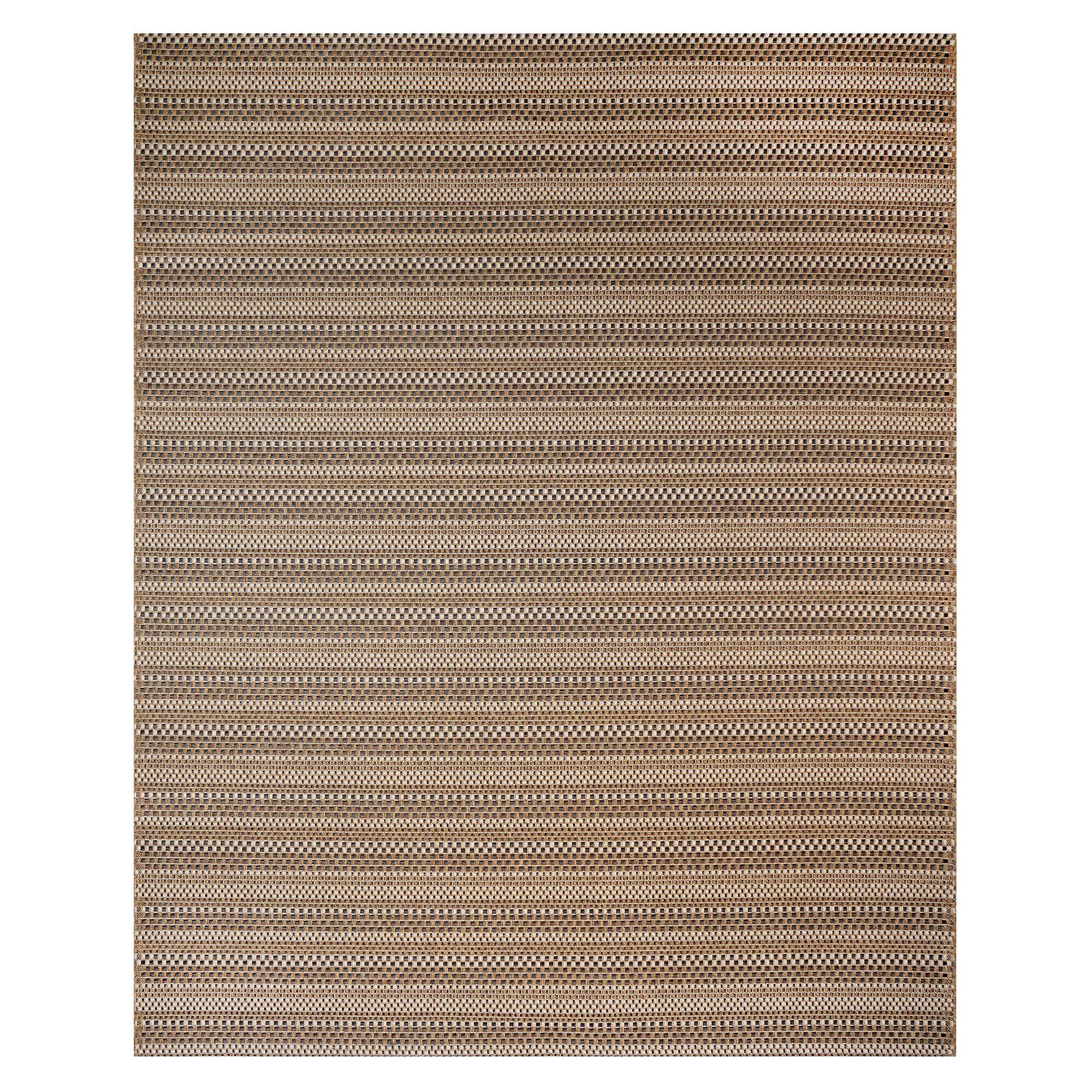 Jennings Chestnut Black Indoor/Outdoor Area Rug Rug Size: Rectangle 5'3