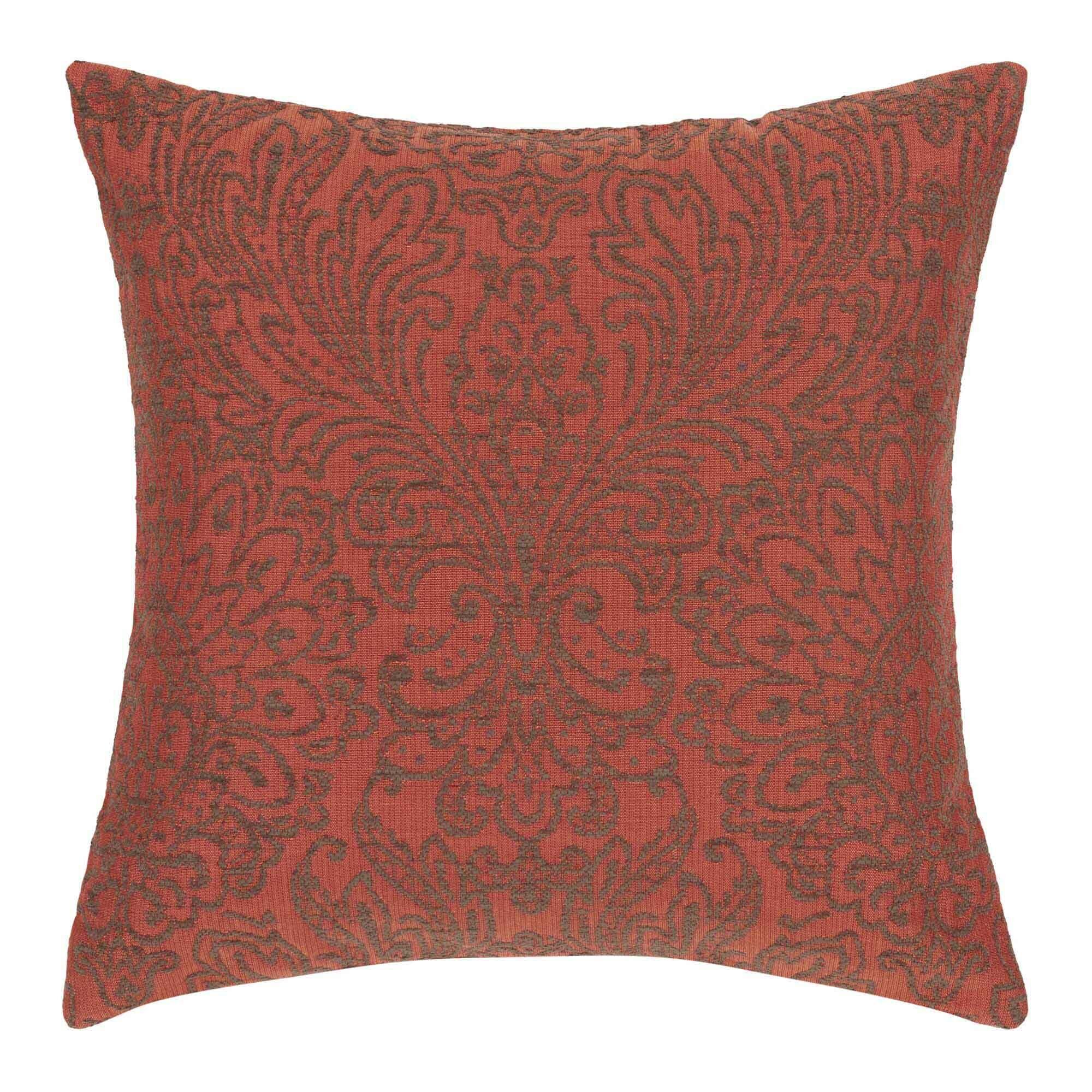 Anita Pillow Cover Color: Orange and Natural