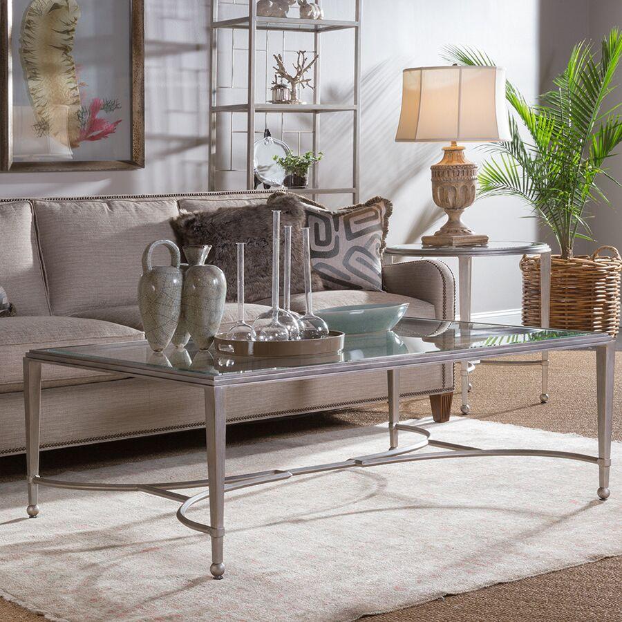 Metal Designs Coffee Table Table Base Color: Argento