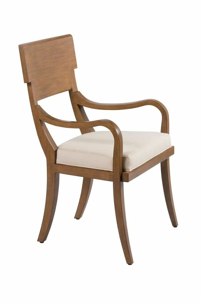 Elliot Dining Chair Upholstery Color: Fabric - Ecru, Frame Color: Java