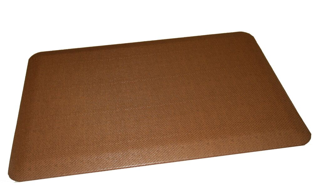 Anti-Fatigue Comfort Kitchen Mat Color: Medium Brown, Mat Size: 2' x 6'