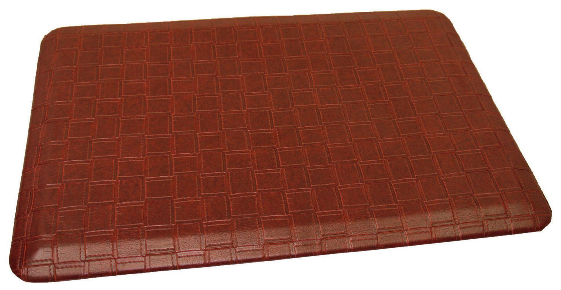 Anti-Fatigue Comfort Kitchen Mat Mat Size: 2' x 4', Color: Rich Reddish