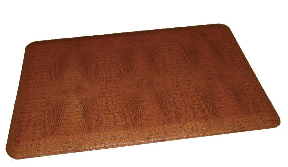 Anti-Fatigue Comfort Kitchen Mat Color: Burnt Orangish Dark Tan, Mat Size: 2' x 4'