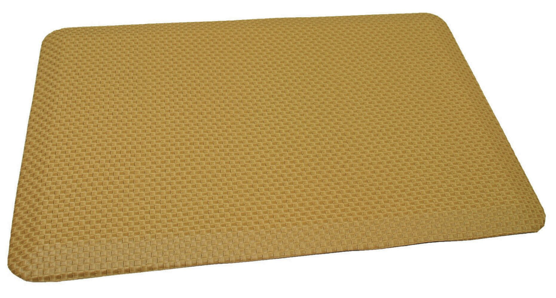 Anti-Fatigue Comfort Kitchen Mat Mat Size: 2' x 4', Color: Rich Light Tanned